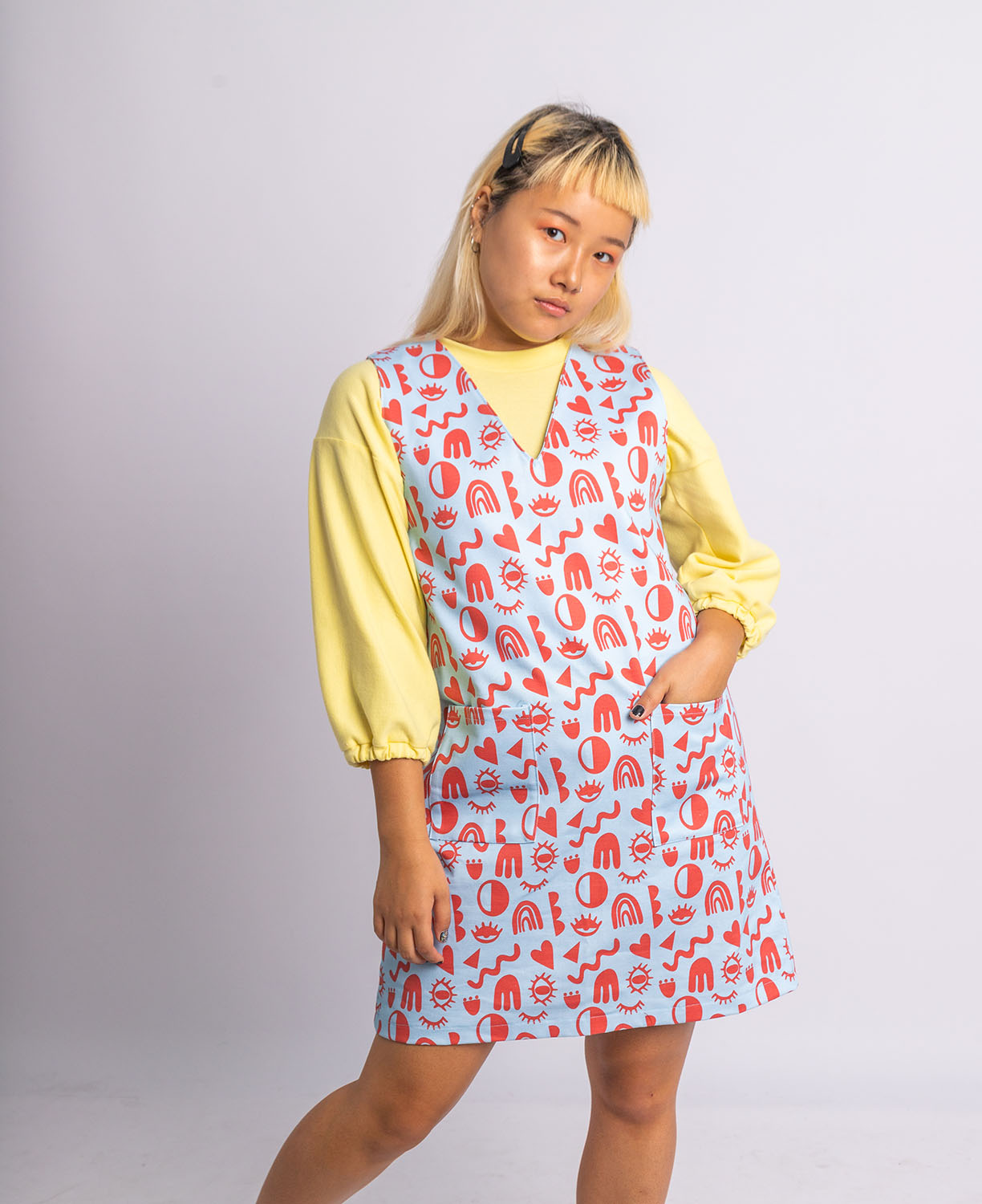 Ethical Morphed Reality Printed Tunic - Taken Online